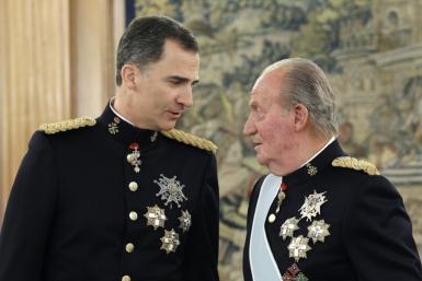 """Spain's former king Juan Carlos said he is leaving the country to help his son, the current King Felipe VI, """"exercise his responsibilities"""""""