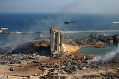 Much of Beirut's port district was obliterated by the force of Tuesday's monster explosion of 2,750 tonnes of ammonium nitratefertiliser