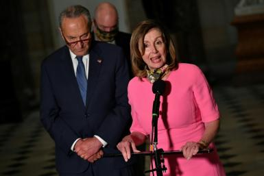 House Speaker Nancy Pelosi and US Senate Minority Leader Chuck Schumer, failed to reach a deal with the White House: 'I've told them, come back when you when you are ready to give us a higher number'