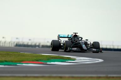 On top: Lewis Hamilton was fastest in practice on Friday