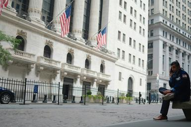 The New York Stock Exchange (NYSE) on July 20, 2020 at Wall Street in New York City