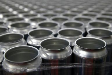 US President Donald Trump has said he was reimposing a 10 percent tariff on Canadian aluminum; In this file photo stacks of empty aluminum cans sit on a pallet before being filled with beer at Devil's Canyon Brewery in San Carlos, California