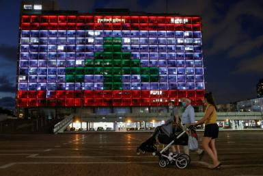 Even though Israel and Lebanon remain technically at war, the Tel Aviv city hall was lit up in the colours of the Lebanese national flag in solidarity with the people of Beirut after the catastrophic blast