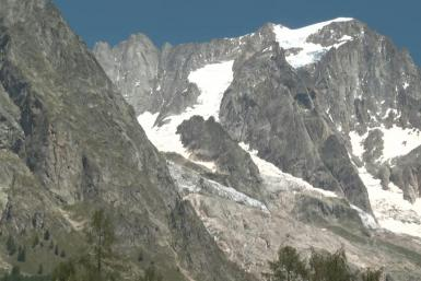 The Val Ferret in Italy remains on high alert and dozens of people have been evacuated over fears a huge chunk of a mountain glacier could break away.