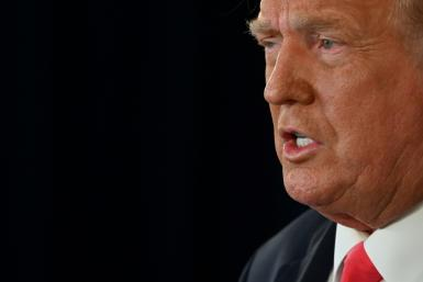 US President Donald Trump also used the press conference to insult his opponents' mental fitness