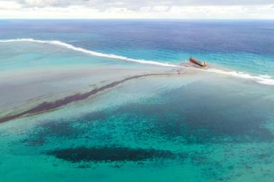 More than 1,000 tonnes has already oozed from the stranded ship, causing untold damage to protected marine parks and fishing grounds that are the backbone of Mauritius' economy