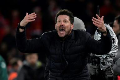 Diego Simeone's Atletico Madrid face Leipzig in the Champions League quarter-finals on Thursday.