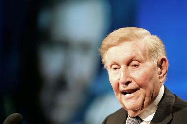 Sumner Redstone, the media mogul who led an empire that included ViacomCBS, is seen in 2007 -- he has died at the age of 97