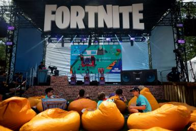 Spectators are seen at the 2019 Fortnite World Cup Finals in New York City in July 2019