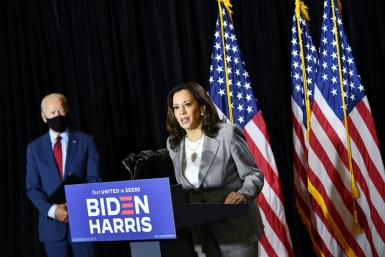 Democratic presidential nominee Joe Biden chose Kamala Harris as his running mate, the first woman of color tapped by a major party for the post