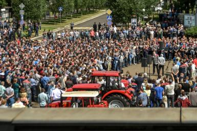 Workers from the Minsk tractor plant (MTZ) walked off the job in solidarity with the Belarusian opposition protesters