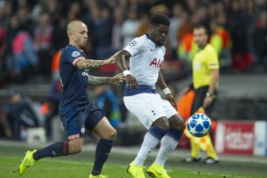 Serge Aurier of Tottenham Hotspur and Angeliño of PSV Eindhoven