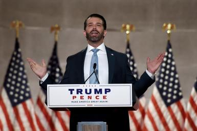 Donald Trump Jr addressed the first night of the Republican National Convention, saying his father had responded swiftly and competently to the coronavirus pandemic
