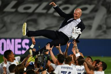 Zinedine Zidane has won two La Liga titles and the Champions League three times as Real Madrid manager
