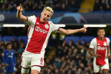 Midfielder Donny van de Beek has joined Manchester United from Ajax