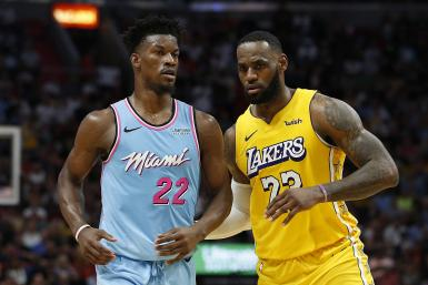 LeBron James Jimmy Butler Lakers Heat
