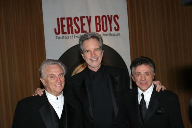 Tommy DeVito, Bob Gaudio and Frankie Valli of The Four Seasons