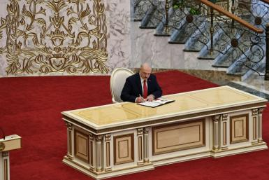 Belarus' President Alexander Lukashenko held his inauguration in secret, with the ceremony later shown on state media