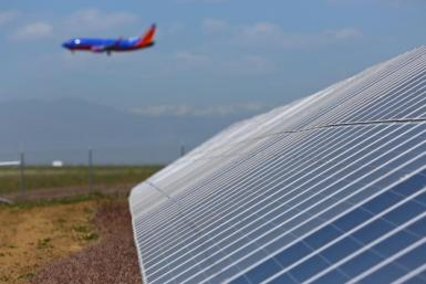 Solar panels at Denver airport