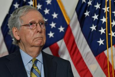 Senate Majority Leader Mitch McConnell holds the edge against his Democratic challenger in Kentucky.