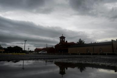 A church in Lake Charles, Louisiana, seen on August 26, 2020 after the passage of Hurricane Laura