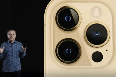 In this screen grab released by Apple, Apple's senior vice president of Worldwide Marketing Greg Joswiak unveils the iPhone 12 Pro at an online launch event