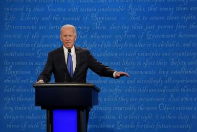 Democratic White House candidate Joe Biden -- trying to hold on to his sizable lead in the polls -- was keen to keep the debate focused on the COVID-19 pandemic