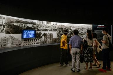 People visit the Nagasaki Atomic Bomb Museum in August 2020, at the 75th anniversary of the attack
