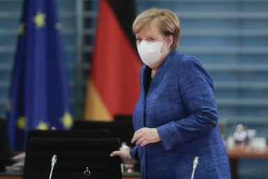German Chancellor Angela Merkel: 'Restrictions serve to protect our citizens and vulnerable groups in particular'