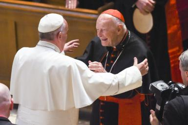 Pope Francis embraces McCarrick in 2015