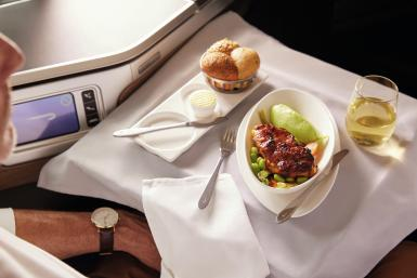 British Airways airplane food