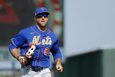 Tim Tebow #85 of the New York Mets