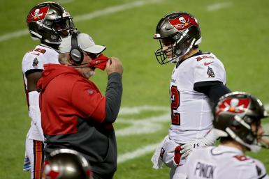 Tampa Bay Buccaneers coach Bruce Arians and Tom Brady
