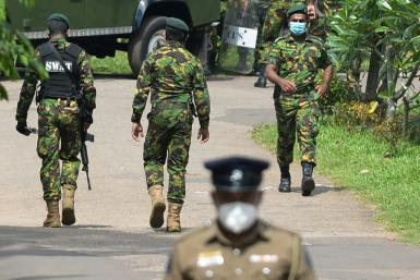 Hundreds of officers including police commandos have been deployed around Mahara prison near Colombo