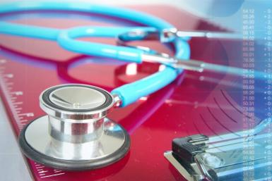 Image of Graph and Stethoscope
