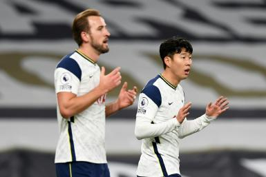 Deadly duo: Harry Kane (left) and Son Heung-min have been ruthless for Tottenham this season