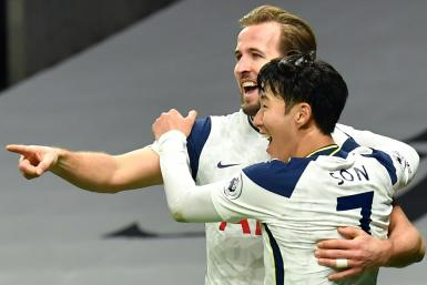 Harry Kane (left) and Son Heung-min both scored in Tottenham's win against Arsenal