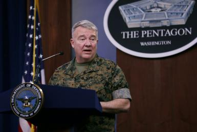 General Kenneth F. McKenzie, seen here in March, said the US was prepared to react if Tehran sought to avenge the killing of powerful Iranian General Qasem Soleimani