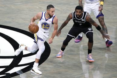 Stephen Curry Kyrie Irving Warriors Nets