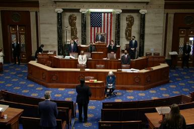 IMAGES The US House of Representatives is gaveled into session to vote to impeach President Trump a second time over his supporters' attack of the Capitol that left five dead. Lawmakers in the lower chamber are expected to vote for impeachment around 3:00