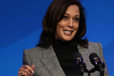 US Vice President-elect Kamala Harris speaks during an announcement January 16, 2021 in Wilmington, Delaware; she has vowed to 'do the job we were hired to do'