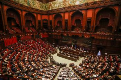 Conte addressed the lower house of parliament at Palazzo Montecitorio in Rome
