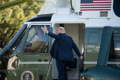 President Donald Trump will leave on Marine One, then go to Florida