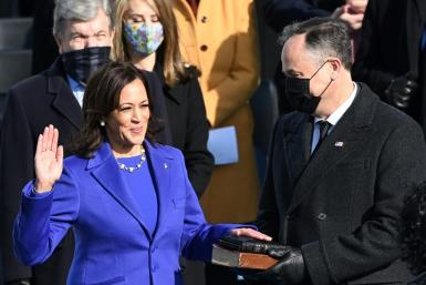 Kamala Harris is sworn in as vice president on Wednesday