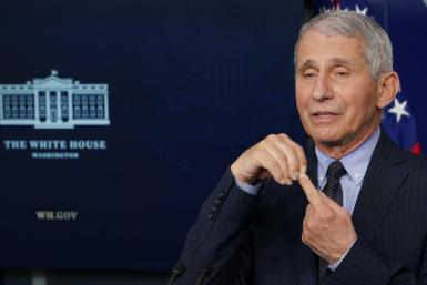 Top infectious disease adviser Anthony Fauci said he was optimistic about Joe Biden's goal of 100 million doses given within his first 100 days