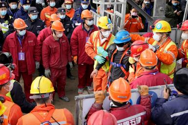 A group of 22 were trapped hundreds of metres underground by the explosion on January 10, with some relying on food and medicine delivered through long shafts