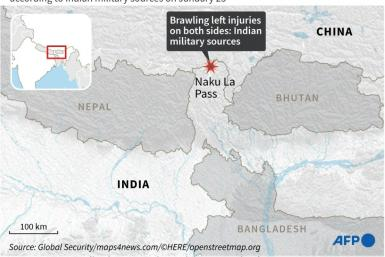 Map locating the area on a remote Himalayan region that was at the centre of border standoff between Chinese and Indian troops this year.