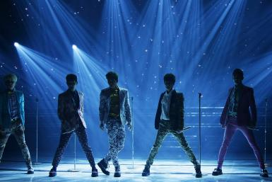 SHINee performing on stage
