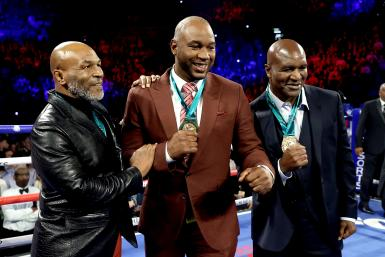 Former Heavyweight Champions Mike Tyson, Lennox Lewis and Evander Holyfield