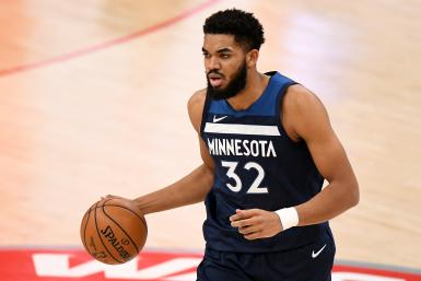 Karl-Anthony Towns #32 of the Minnesota Timberwolves